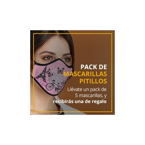 Pack de 5 mascarillas +1 de regalo