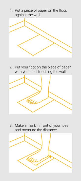 medir el pie